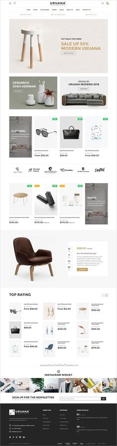 Uruana is clean and elegant design responsive 3in1 #Shopify theme for #decor #shop multipurpose #eCommerce website download now➩ https://themeforest.net/item/uruana-multi-store-responsive-shopify-theme/19222077?ref=Datasata