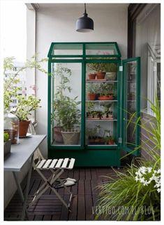 szklarnia na balkonie, światełka na balkonie, dekoracje balkonów, pomysły na dekoracje balkonu, wystrój balkonów