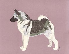 Norwegian Elkhound Cut Up by CanineCutUps on Etsy, $35.00