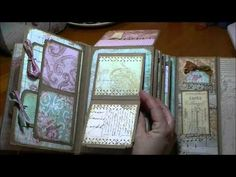 "Mini Album made with DCWV ""Primrose"" Paper                                                Published October 16, 2013                   		 		..."