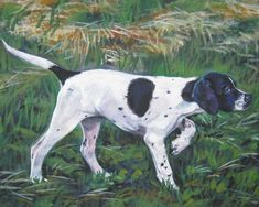 English Pointer dog art CANVAS print of LA Shepard by TheDogLover