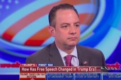 """White House Chief of Staff Reince Priebus admitted during a Sunday morning interview with ABC's Jonathan Karl that the Trump administration has """"looked at"""" a constitutional amendment to free speech protections. Karl sought to clarify President Trump's tweet that """"the failing New York Times has disgraced the media world. Gotten me wrong for two solid years. Change the libel laws?"""" """"That would require, as I understand it, a constitutional amendment,"""" Karl s..."""