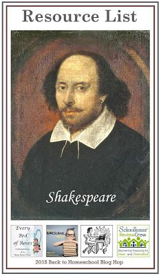 Shakespeare for a Charlotte Mason Education  Mega Resource list of links to all things Shakespeare.