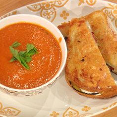 Eggplant Parm Grilled Cheese and Tomato Soup | Rachael Ray Show