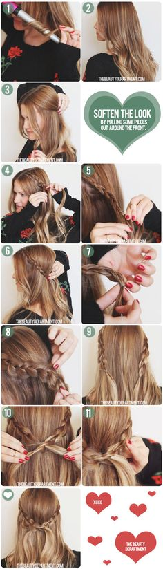 Dutch Braid Crown half updo