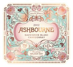 Ashbourne Wine Label for Hamilton Russel Wines. Design by Pearly Yon.