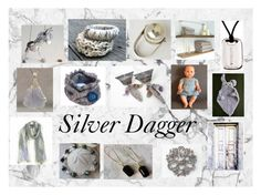 """Silver Dagger: Vintage & Handmade Gifts"" by paulinemcewen ❤ liked on Polyvore featuring Natural Blue, Anello, rustic and vintage"