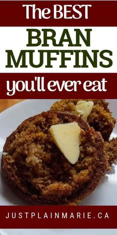 Janets Yogurt Bran Muffins are light moist full of flavor and quick to make. Healthy and delicious they will be a new favourite. - Muffins - Ideas of Muffins Healthy Muffin Recipes, Healthy Muffins, Gourmet Recipes, Baking Recipes, Breakfast Recipes, Healthy Snacks, Healthy Cake, Low Calorie Muffins, Healthy Drinks