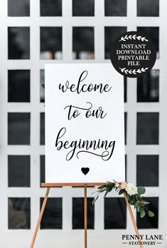 This printable Welcome sign is the perfect addition to your modern Wedding Decor! Display at your Wedding Reception or Ceremony entrance for an elegant touch to your Wedding or Engagement Decorations. Engagement Party Planning, Engagement Party Decorations, Wedding Planning Tips, Wedding Engagement, Engagement Ideas, Engagement Party Signs, Engagement Parties, Wedding Welcome Signs, Wedding Signs