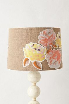 Anthropologie lamp shade! I want to make one of these. So cool!