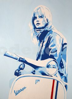"""madeinthesixties:  """" Scooter  http://www.modenough.com/photo_312428.html  """""""