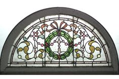 americanvictorian stained glass windows | AMERICAN VICTORIAN ARCHED LEADED, STAINED GLASS AND TRANSOM WINDOW ... Mosaic Glass, Glass Art, Antique Stained Glass Windows, Tea Tree Soap, Transom Windows, Green Wreath, Victorian Christmas, Cool Designs, Arch