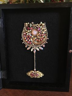 Your place to buy and sell all things handmade Costume Jewelry Crafts, Vintage Jewelry Crafts, Vintage Jewellery, Mom Jewelry, Jewelry Tree, Jewelry Making, Button Crafts, Button Art, Jewelry Frames