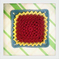 chrysanthemum square ~ Crochet directions