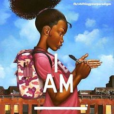 You Are What You Think by Frank Morrison. I am strong, I am smart, I am beautiful, I am a child of God Black Love Art, Black Girl Art, My Black Is Beautiful, Beautiful Artwork, Black Girls, Black Child, Beautiful Women, African American Art, African Art