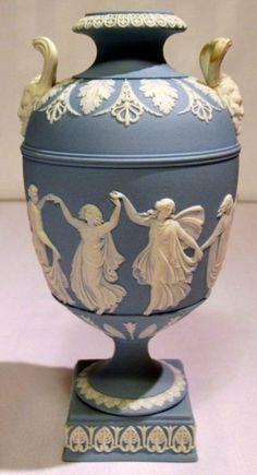 Early Wedgwood Jasper ware Dancing Hours Neo Classical Urn