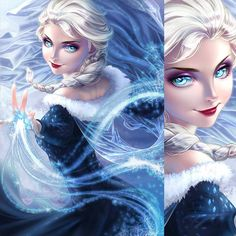 I colored @artgerm 's Elsa lineart! I really pushed myself with this one and I think it came out exactly how I wanted it to.  #elsartgerm #elsa #frozen #drawing #digitalart #illustration http://misstagram.com/ipost/1551369062881434157/?code=BWHkfF0lBot