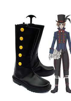 Black Butler Kuroshitsuji Doll Maker Drocell Caines Cosplay Shoes Boots Custom Made