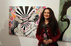 """Ja i mój obraz """"Carnavalowy Kiss-Kiss ower all"""""""