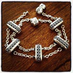 Double clips on two 5 clip bracelets.