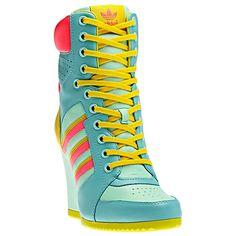 adidas Jeremy Scott Wedge Hi Shoes