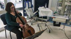 THAT'S ME!!! :-) La violoncellista infermiera: 'Con la mia musica curo i malati'  di MARIANNA VAZZANA