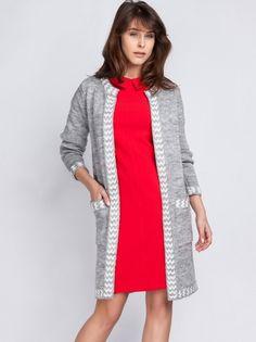 Ženski pulover MKM - siva