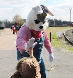 The Easter Bunny gives the best high fives, and the Easter Bunny Express is ready to roll out for a second day of fun! The event continues next Friday and Saturday, April 3rd and 4th. A big finish is planned with lots of extras April 4th, including an Easter Egg hunt and steam engine caboose train rides. Click here for more: http://nctrans.org/Events/Easter-Bunny-Express.aspx
