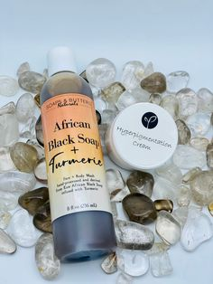 Turmeric Liquid African Black Soap and Hyper-pigmentation Cream Set; Hormonal Acne Face/Body Cleanser and Face & Body Cream Moisturizer Set by SoapsAndButtersLA on Etsy African Soap, Raw African Black Soap, Dark Marks On Face, Fungal Infection Skin, Turmeric Essential Oil, Liquid Castile Soap, Acne Face, Pure Oils