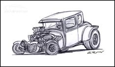 Got lots going on tomorrow so I thought I would start this off while I had a free minute. A few contact sheets of vector hot rods and stuff. Car Drawing Pencil, Bear Drawing, Cartoon Drawings, Art Drawings, Drawing Art, Hot Rod Tattoo, Racing Car Design, Drawing Machine, Garage Art