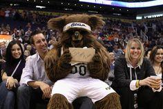 The Utah Jazz Bear.