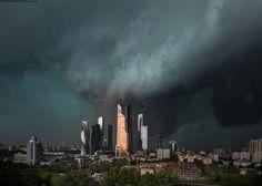 Moscow. Rain.