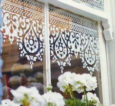 Stencil window
