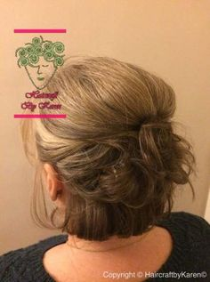 Wedding Hairstyles Guest Short Mother Of The Bride Ideas - Wedding Hair Styles Mother Of The Bride Hair Short, Mother Of The Groom Hairstyles, Mom Hairstyles, Older Women Hairstyles, Wedding Hairstyles, Short Updo Wedding, Short Hair Updo, Trendy Wedding, Medium Hair Styles