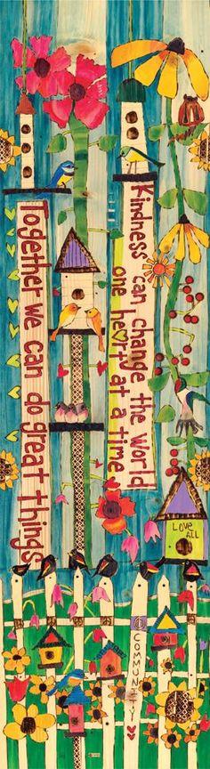 Together We Can Art Pole – 6 Foot - Gartenkunst Garden Fence Art, Garden Poles, Diy Garden, Garden Crafts, Glass Garden, Wind Spinners, Peace Pole, Pole Art, Diy Inspiration