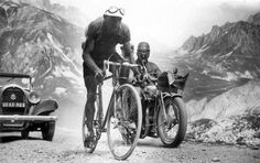Picture of the Day: Vintage Tour de France, 1934 In this vintage Tour de France photo from 10 July 1934, we see Federico Ezquerra during Stage 7's 228 km mountain trek.