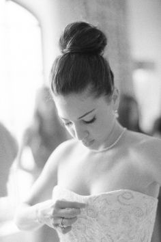 The Ballerina bun definitely goes down as one of our favorite simply elegant wedding hairstyles! bridalmusings.com