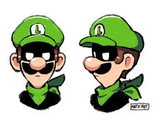 Mr. L. Super Mario And Luigi, Paper Mario, Cartoon Art Styles, Best Games, Nerd, Draw, Video Games, Nintendo, Universe
