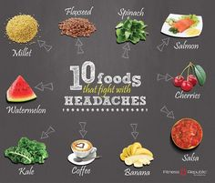 10 FOODS THAT FIGHT WITH HEADACHES