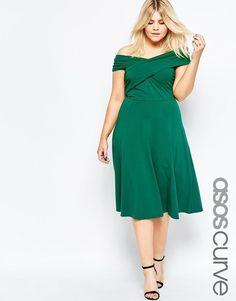 Plus Size Midi Skater Dress