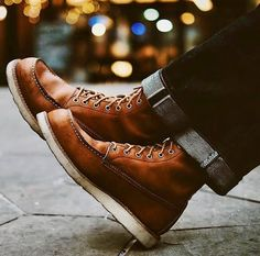 Menhill Classic Lace-up Thick-soled Men's Boots Warm Waterproof Boots, Lightweight Hiking Boots, Mens Boots Fashion, Biker Fashion, Fashion Outfits, Mens Snow Boots, Red Wing Boots, Shoe Boots, Men's Boots
