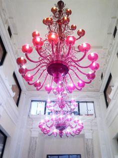 Baccarat Chandelier, hanging in restaurant at the Bund, Shanghai