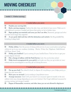 Ultimate Moving Checklist (free printable | Moving checklist ...
