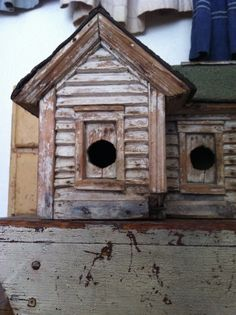 19Th C Early birdhouse.1800primitives.  Years ago I let some one talk me out of it, goofed.