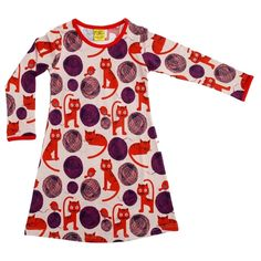 More than a Fling Dress Cats Pink Cat Dresses, Pink Dress, Kids Fashion, Cold Shoulder Dress, Long Sleeve, How To Wear, Sweden, Cats, Pink Sundress