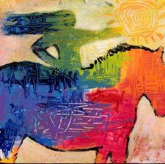 Original Horse Painting by Caren Goodrich Call Me Crazy by caren