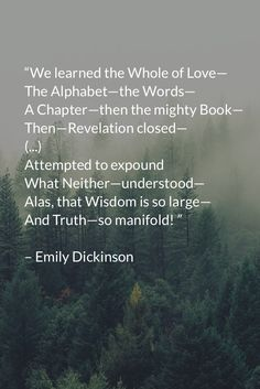 Emily Dickinson The Alphabet of love Poetry Poem, Poetry Quotes, Music Quotes, Book Quotes, Pretty Words, Beautiful Words, Emily Dickinson Quotes, American Poetry, Writing Words