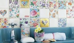 Beautiful tiles. Really like the floral, patchwork and chabby chic look