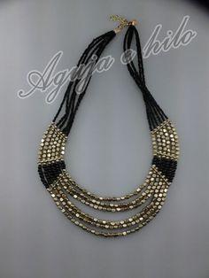 Aguja e Hilo: collares Etnicos! Bead Jewellery, Beaded Jewelry, Jewelery, Handmade Jewelry, Jewelry Necklaces, Beaded Necklace, Bracelets, Mom Jewelry, Jewelry Design