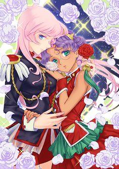Revolutionary Girl Utena / Anthy and Utena Manga Anime, Anime Art, Yuri Anime, Revolutionary Girl Utena, Nerd, Cute Couple Art, Ghost In The Shell, I Love Anime, Anime Shows